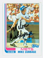Mike Cubbage AUTOGRAPH 1982 Topps #43 Mets   [SKU:CubbM6502_T82BB]