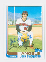 John D'Acquisto AUTOGRAPH 1982 Topps #58 Angels 