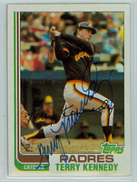 Terry Kennedy AUTOGRAPH 1982 Topps #65 Padres 