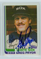 Greg Pryor AUTOGRAPH 1982 Topps #76 White Sox 