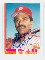 Bill Robinson AUTOGRAPH d.07 1982 Topps #100T Phillies TRADED 