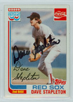 Dave Stapleton AUTOGRAPH 1982 Topps #19 Red Sox Coke 