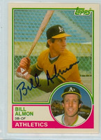 Billy Almon AUTOGRAPH 1983 Topps #2 Athletics TRADED 