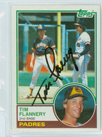 Tim Flannery AUTOGRAPH 1983 Topps #38 Padres 