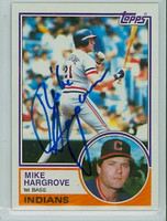 Mike Hargrove AUTOGRAPH 1983 Topps #660 Indians 
