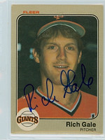 Rich Gale AUTOGRAPH 1983 Fleer #260 Giants 