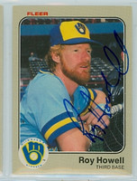Roy Howell AUTOGRAPH 1983 Fleer #36 Brewers 