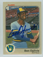 Ben Oglivie AUTOGRAPH 1983 Fleer #43 Brewers 