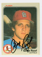 Gene Roof AUTOGRAPH 1983 Fleer #20 Cardinals 