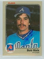 Bob Walk AUTOGRAPH 1983 Fleer #149 Braves 