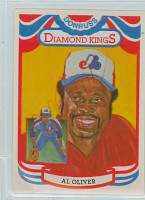 Al Oliver AUTOGRAPH 1984 Donruss #9 Expos Diamond King 