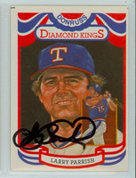Larry Parrish AUTOGRAPH 1984 Donruss #21 Rangers Diamond King 