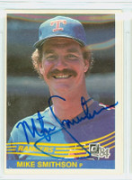 Mike Smithson AUTOGRAPH 1984 Donruss #221 Rangers 