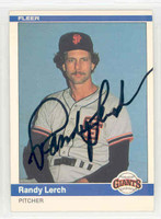 Randy Lerch AUTOGRAPH 1984 Fleer #380 Giants 