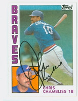Chris Chambliss AUTOGRAPH 1984 Topps #50 Braves 