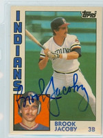 Brook Jacoby AUTOGRAPH 1984 Topps #55 Indians TRADED 