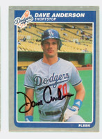 Dave Anderson AUTOGRAPH 1985 Fleer Dodgers 