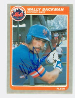 Wally Backman AUTOGRAPH 1985 Fleer Mets 