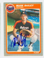 Mark Bailey AUTOGRAPH 1985 Fleer Astros 