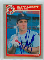 Marty Barrett AUTOGRAPH 1985 Fleer Red Sox 