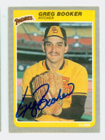 Greg Booker AUTOGRAPH 1985 Fleer Padres 