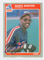 Daryl Boston AUTOGRAPH 1985 Fleer White Sox 