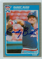 Randy Bush AUTOGRAPH 1985 Fleer Twins 