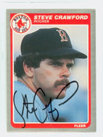 Steve Crawford AUTOGRAPH 1985 Fleer Red Sox 