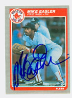Mike Easler AUTOGRAPH 1985 Fleer Red Sox 