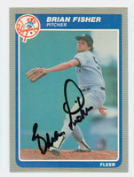 Brian Fisher AUTOGRAPH 1985 Fleer UPDATE U-40 Yankees 