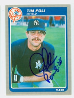 Tim Foli AUTOGRAPH 1985 Fleer #126 Yankees 