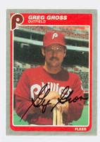 Greg Gross AUTOGRAPH 1985 Fleer Phillies 