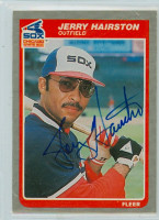 Jerry Hairston AUTOGRAPH 1985 Fleer White Sox 