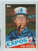 Fred Breining AUTOGRAPH 1985 Topps #36 Expos 