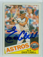 Enos Cabell AUTOGRAPH 1985 Topps #786 Astros 