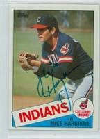 Mike Hargrove AUTOGRAPH 1985 Topps #425 Indians 