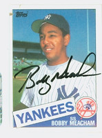 Bobby Meacham AUTOGRAPH 1985 Topps #16 Yankees 