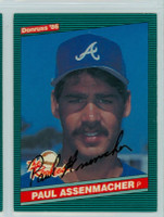 Paul Assenmacher AUTOGRAPH 1986 Donruss ROOKIES #28 Braves 