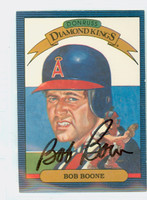 Bob Boone AUTOGRAPH 1986 Donruss #17 Angels Diamond King 