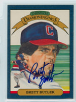 Brett Butler AUTOGRAPH 1986 Donruss #12 Indians Diamond King 