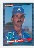 Marty Clary AUTOGRAPH 1986 Donruss #36 Braves 