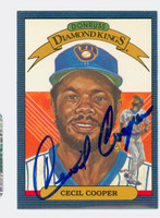 Cecil Cooper AUTOGRAPH 1986 Donruss #7 Brewers Diamond King 