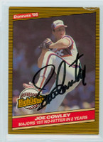 Joe Cowley AUTOGRAPH 1986 Donruss #44 White Sox Highlight 