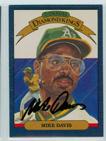 Mike Davis AUTOGRAPH 1986 Donruss #14 Athletics Diamond King 