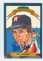 Bill Doran AUTOGRAPH 1986 Donruss #10 Astros Diamond King 