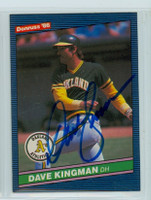 Dave Kingman AUTOGRAPH 1986 Donruss #54 Athletics 