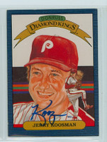 Jerry Koosman AUTOGRAPH 1986 Donruss #23 Phillies Diamond King 