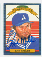 Rick Mahler AUTOGRAPH d.05 1986 Donruss #21 Braves Diamond King 