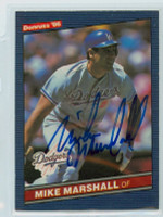 Mike Marshall AUTOGRAPH 1986 Donruss #52 Dodgers 