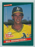 Bill Mooneyham AUTOGRAPH 1986 Donruss ROOKIES #50 Athletics 